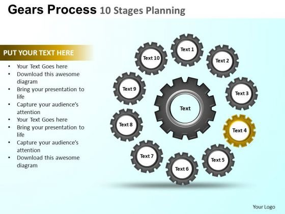 PowerPoint Slidelayout Graphic Gears Process Ppt Design