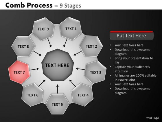 PowerPoint Slidelayout Graphic Hub And Spokes Process Ppt Backgrounds
