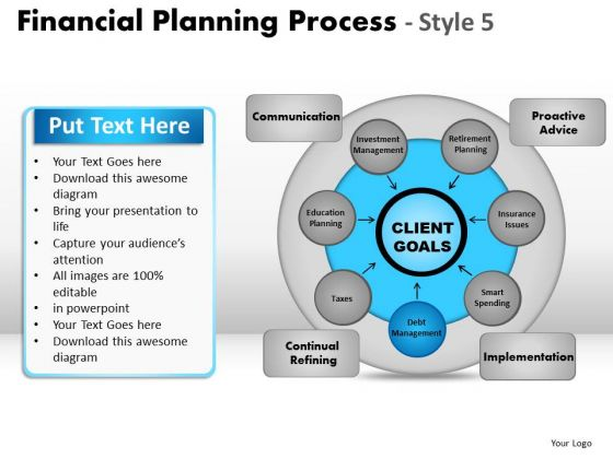 PowerPoint Slidelayout Growth Financial Planning Ppt Backgrounds