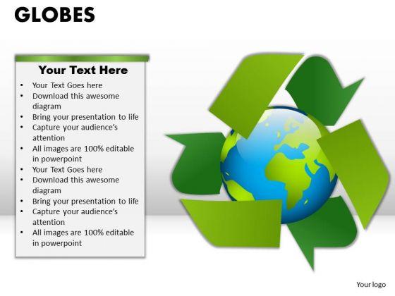 PowerPoint Slidelayout Growth Globes Ppt Slides