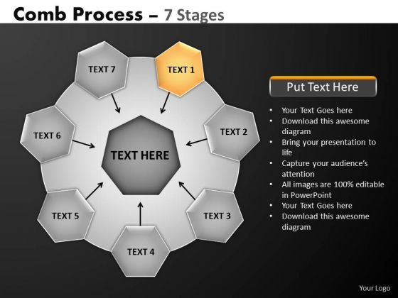 PowerPoint Slidelayout Growth Hub And Spokes Process Ppt Presentation