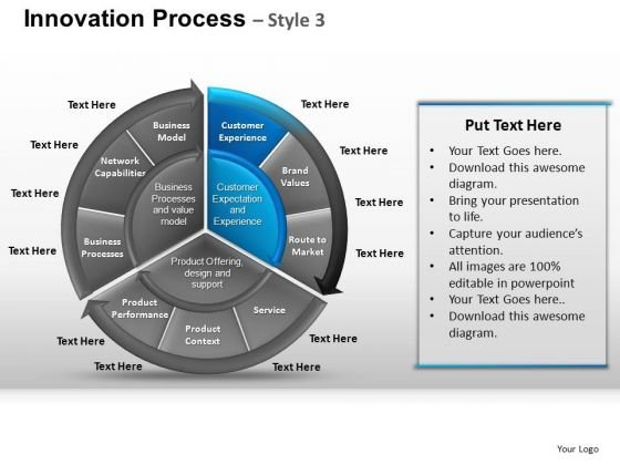 PowerPoint Slidelayout Growth Pie Chart Ppt Process
