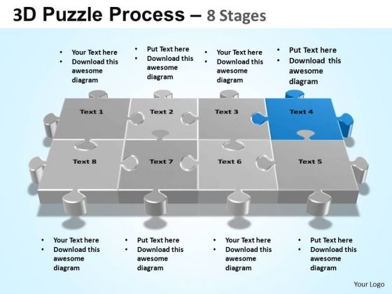 PowerPoint Slidelayout Growth Puzzle Process Ppt Themes