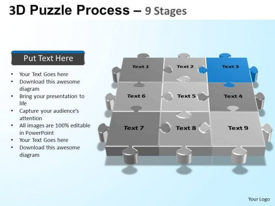 PowerPoint Slidelayout Image Puzzle Process Ppt Template