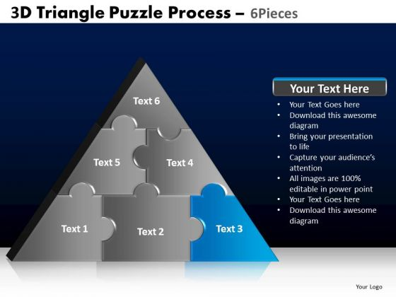 PowerPoint Slidelayout Image Triangle Puzzle Ppt Template