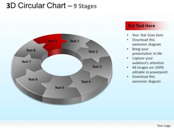 PowerPoint Slidelayout Leadership Circular Chart Ppt Design