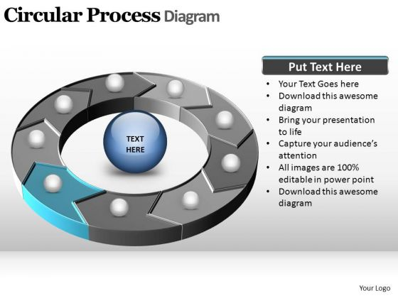 PowerPoint Slidelayout Leadership Circular Process Ppt Template