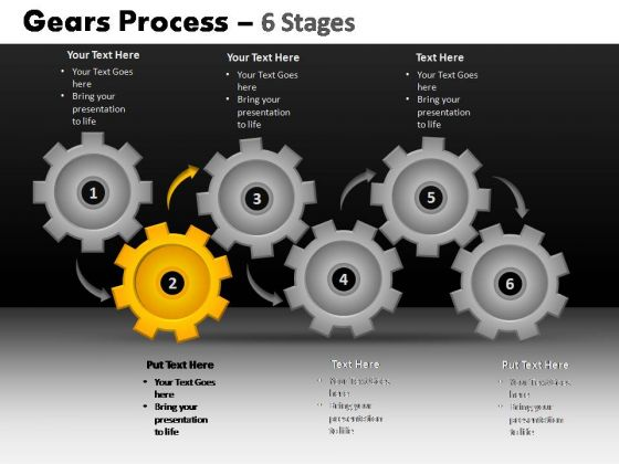 PowerPoint Slidelayout Leadership Gears Process Ppt Template