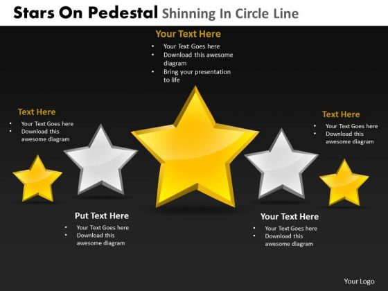 PowerPoint Slidelayout Leadership Pedestal Shinning Ppt Theme