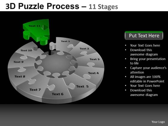 PowerPoint Slidelayout Leadership Pie Chart Puzzle Process Ppt Process