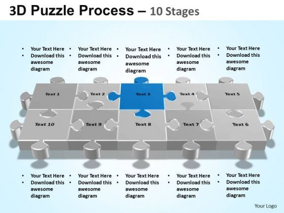 PowerPoint Slidelayout Leadership Puzzle Process Ppt Template