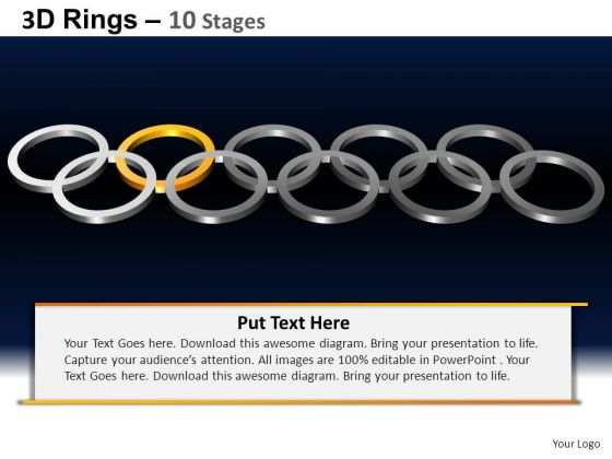 PowerPoint Slidelayout Leadership Rings Ppt Backgrounds