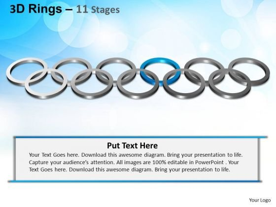 PowerPoint Slidelayout Leadership Rings Ppt Design