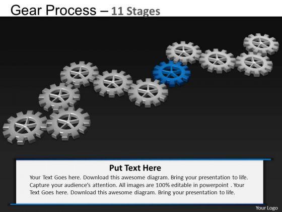 PowerPoint Slidelayout Marketing Gears Process Ppt Slide