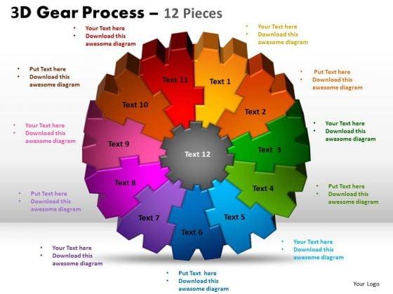 PowerPoint Slidelayout Process Gear Process Ppt Presentation
