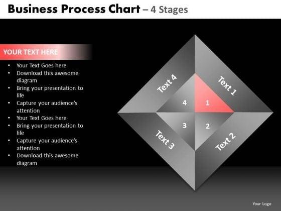 PowerPoint Slidelayout Process Quadrant Diagram Ppt Slide Designs