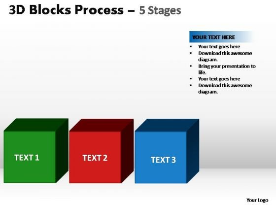 PowerPoint Slidelayout Strategy Blocks Process Ppt Backgrounds