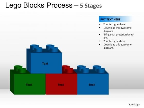 PowerPoint Slidelayout Strategy Lego Blocks Ppt Slides