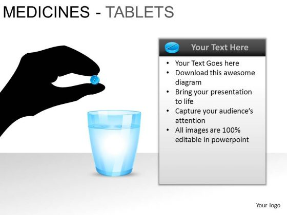 PowerPoint Slidelayout Strategy Medicine Tablets Ppt Slide Designs