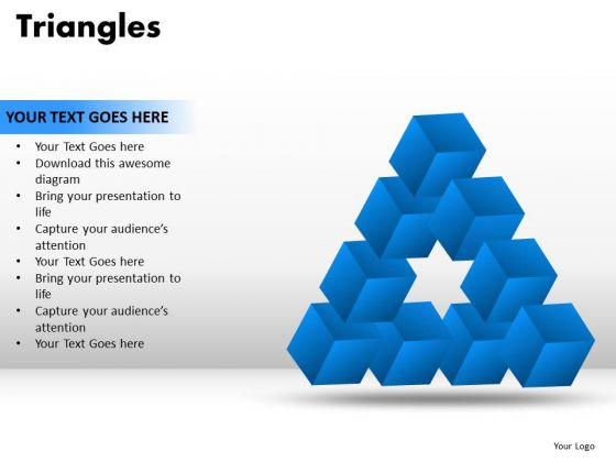 PowerPoint Slidelayout Strategy Triangles Ppt Designs