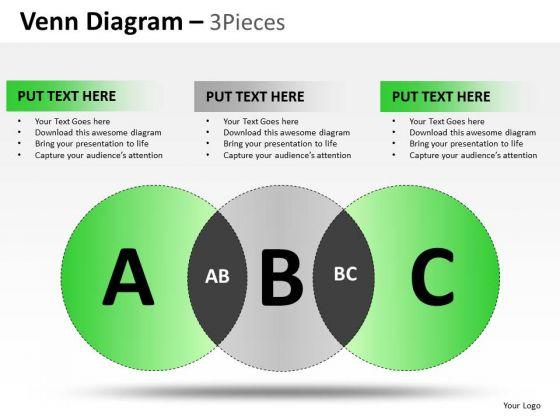 PowerPoint Slidelayout Strategy Venn Diagram Ppt Backgrounds