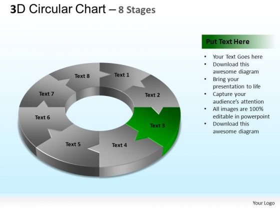 PowerPoint Slidelayout Success Circular Chart Ppt Backgrounds