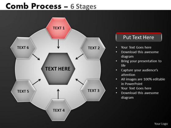 PowerPoint Slidelayout Success Hub And Spokes Process Ppt Slides