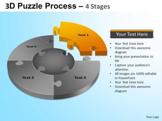 PowerPoint Slidelayout Success Jigsaw Pie Chart Ppt Design
