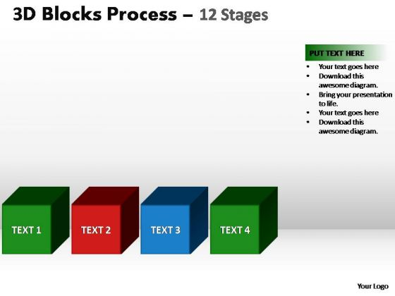 PowerPoint Slidelayout Teamwork Blocks Process Ppt Design