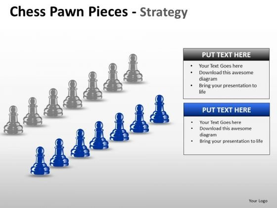 PowerPoint Slidelayout Teamwork Chess Pawn Ppt Template