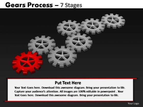 PowerPoint Slidelayout Teamwork Gears Process Ppt Backgrounds