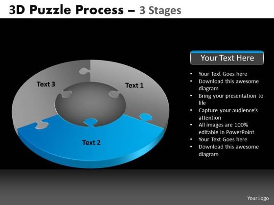PowerPoint Slidelayout Teamwork Pie Chart Puzzle Process Ppt Backgrounds