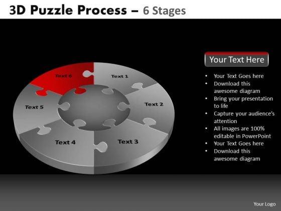 PowerPoint Slidelayout Teamwork Pie Chart Puzzle Process Ppt Process