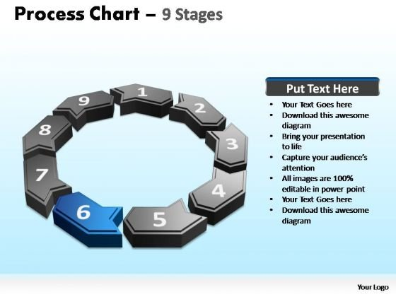 PowerPoint Slidelayout Teamwork Process Chart Ppt Slide