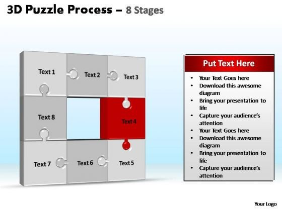 PowerPoint Slidelayout Teamwork Puzzle Process Ppt Theme