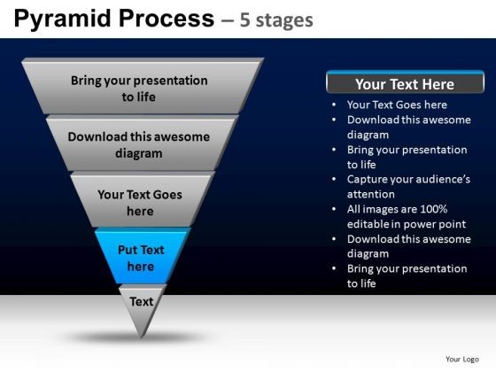 PowerPoint Slidelayout Teamwork Pyramid Process Ppt Backgrounds