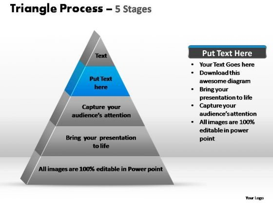 PowerPoint Slidelayout Teamwork Triangle Process Ppt Backgrounds