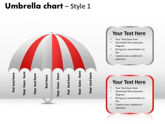PowerPoint Slidelayout Teamwork Umbrella Chart Ppt Theme