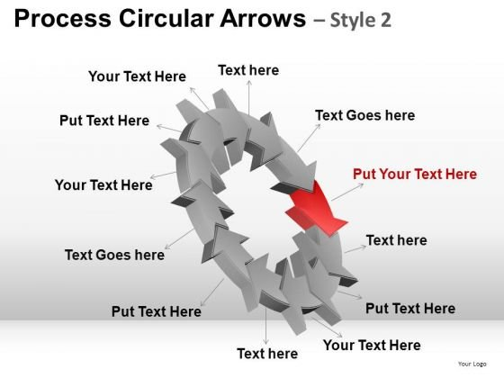 PowerPoint Slidelayoutbusiness Success Process Circular Arrows Ppt Slides