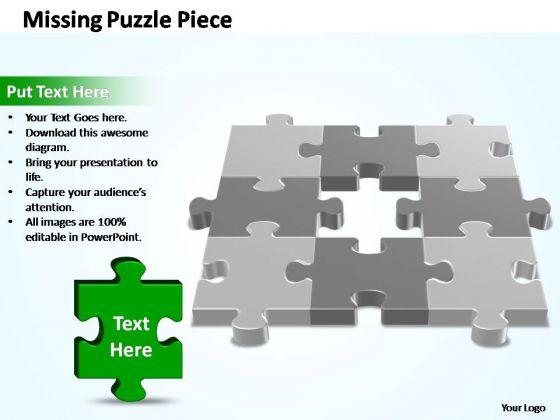 PowerPoint Slides Business 3d 3x3 Missing Puzzle Piece Ppt Process