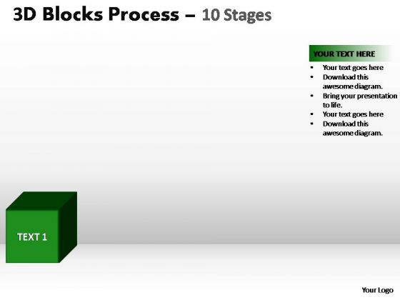 PowerPoint Slides Business Blocks Process Ppt Backgrounds