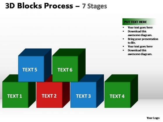 PowerPoint Slides Business Blocks Process Ppt Themes