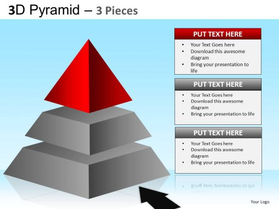 PowerPoint Slides Business Competition Pyramid Ppt Presentation