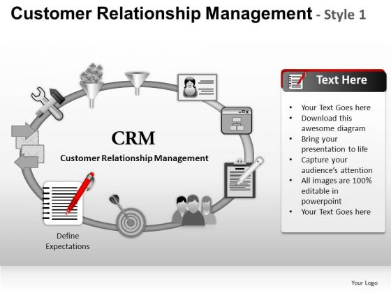 PowerPoint Slides Business Designs Customer Relationship Management Ppt Themes