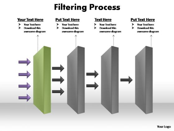 PowerPoint Slides Business Filtering Process Ppt Designs