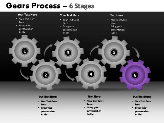 PowerPoint Slides Business Gears Process Ppt Templates