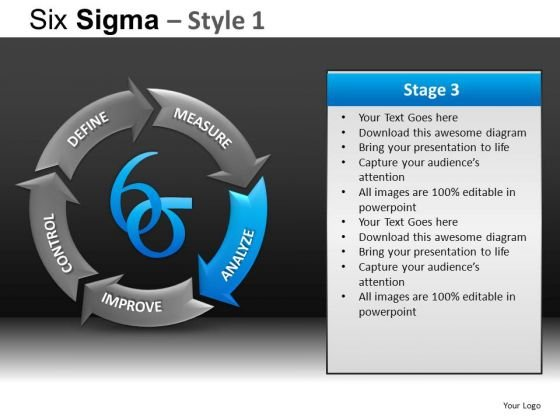 PowerPoint Slides Business Growth Six Sigma Ppt Layouts