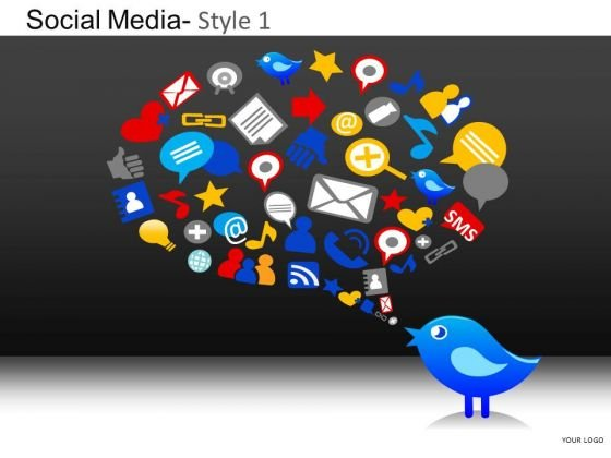 PowerPoint Slides Business Growth Social Media Ppt Layouts