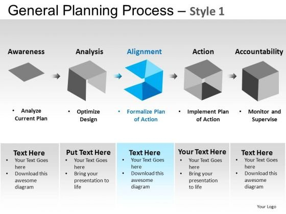 PowerPoint Slides Business Leadership General Planning Process Ppt Slides