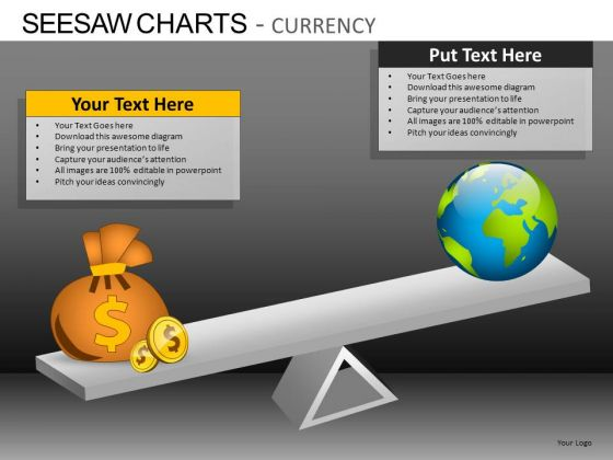 PowerPoint Slides Business Leadership Seesaw Charts Currency Ppt Process